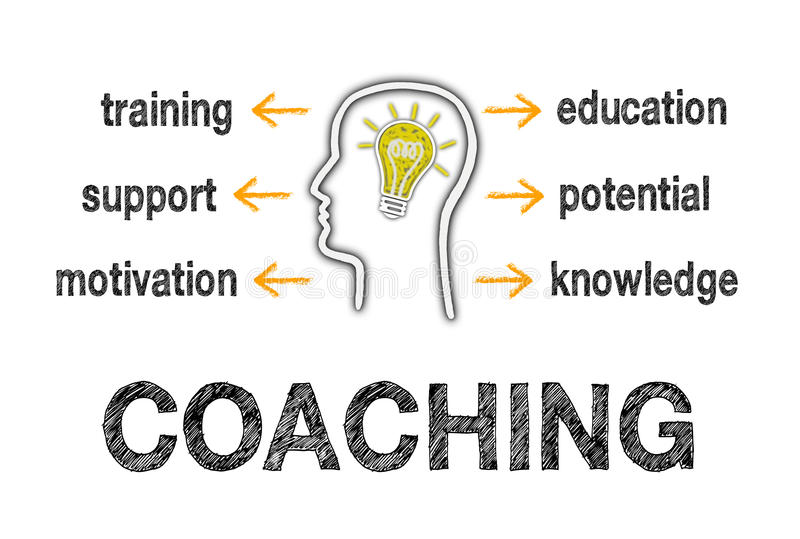 Coaching Business Concept stock illustration