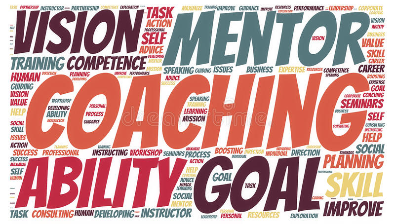 Coaching Concept Cloud stock photo