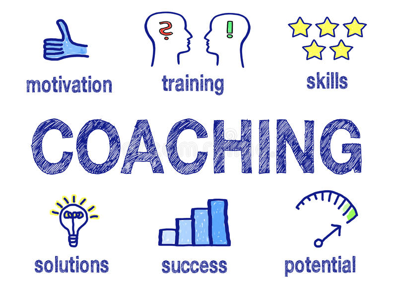 Coaching concept royalty free stock images