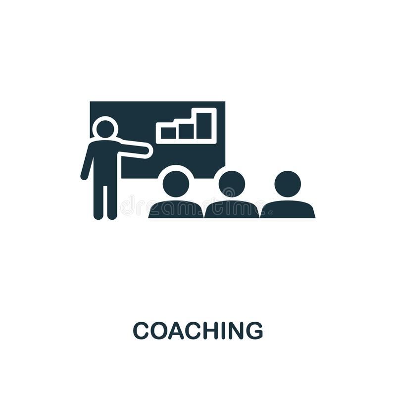 Coaching creative icon. Simple element illustration. Coaching concept symbol design from soft skills collection. Perfect for web d stock illustration