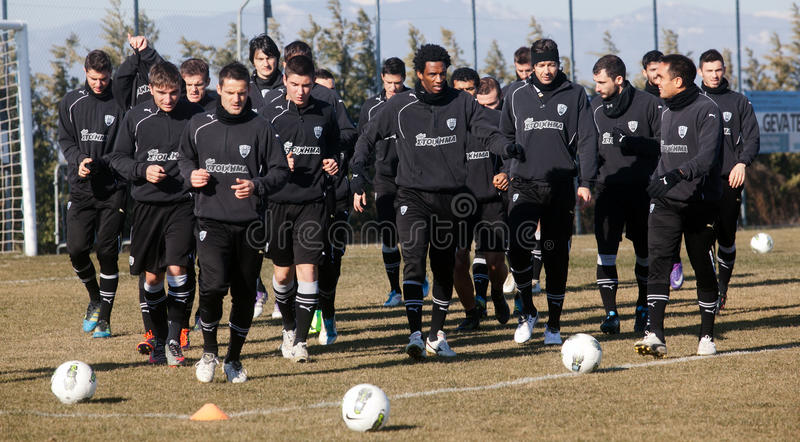 Coaching the football team of PAOK