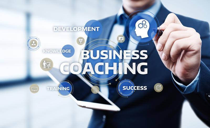 Coaching Mentoring Education Business Training Development E-learning Concept royalty free stock images