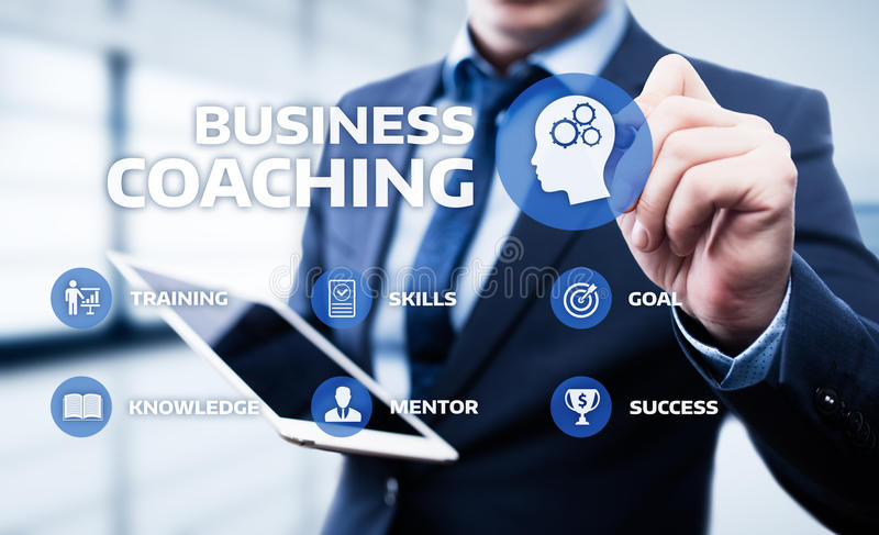 Coaching Mentoring Education Business Training Development E-learning Concept royalty free stock photography