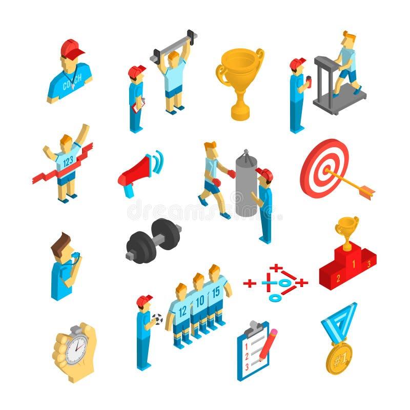 Coaching Sport Icon Isometric vector illustration