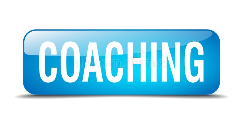 coaching button royalty free illustration