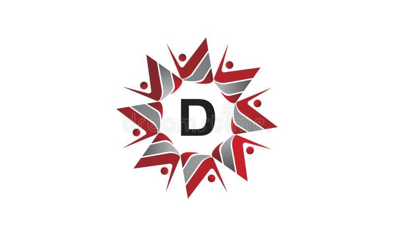 Coaching Success Continuity Initial D. Logo Design Template Vector vector illustration