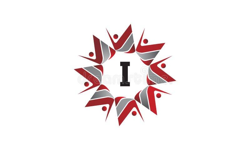 Coaching Success Continuity Initial I. Logo Design Template Vector stock illustration
