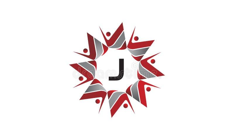 Coaching Success Continuity Initial J. Logo Design Template Vector vector illustration