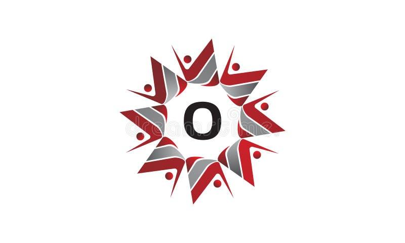 Coaching Success Continuity Initial O. Logo Design Template Vector stock illustration