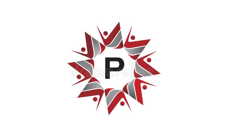 Coaching Success Continuity Initial P. Logo Design Template Vector vector illustration