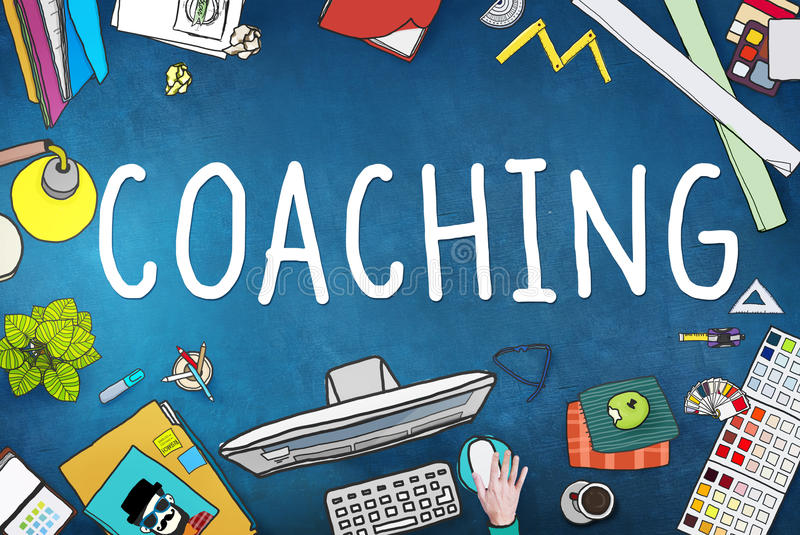 Coaching Training Mentor Teaching Coach Concept royalty free illustration