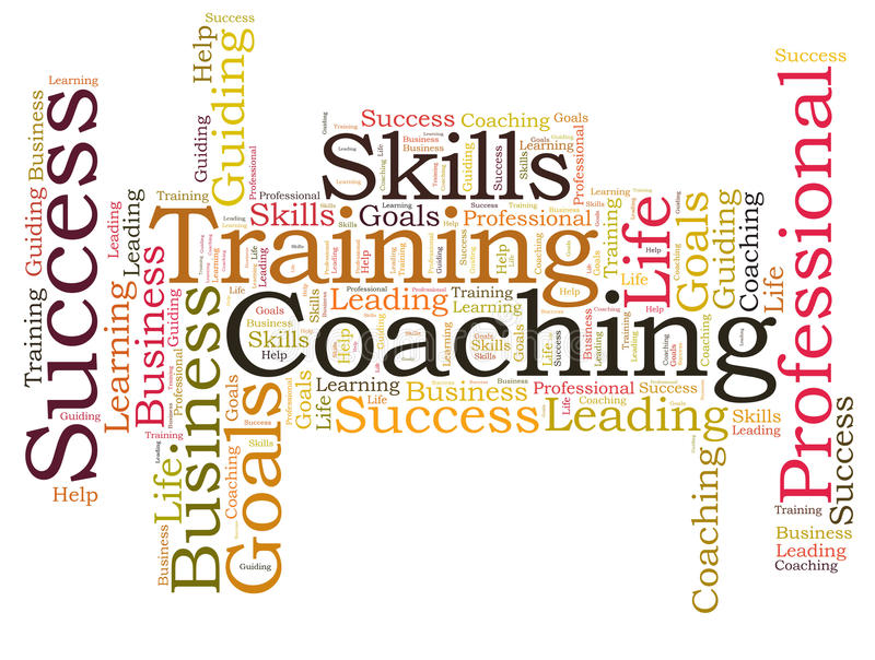 COACHING word cloud royalty free illustration