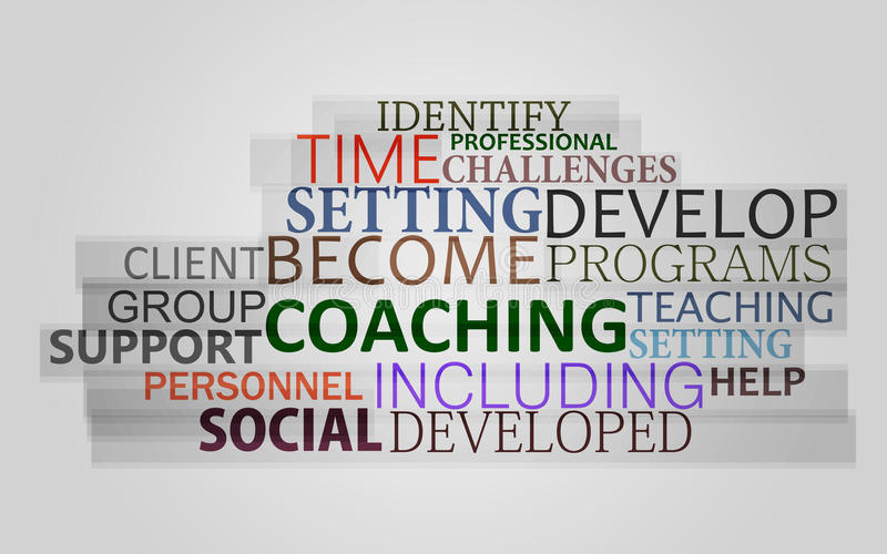 Coaching word concept royalty free stock image