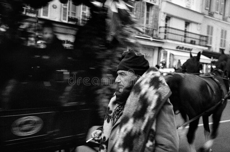 Download Coachman in paris stock image. Image of cold, exterior - 84982233