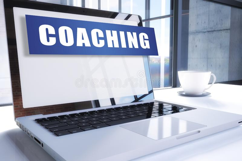 coachning royaltyfri illustrationer