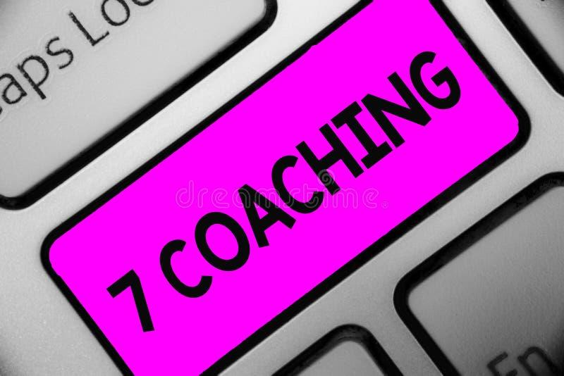 Coachning för ordhandstiltext 7 Affärsidé för Refers till ett antal diagram angående affären som är lyckad tangentbordpurpl arkivfoton