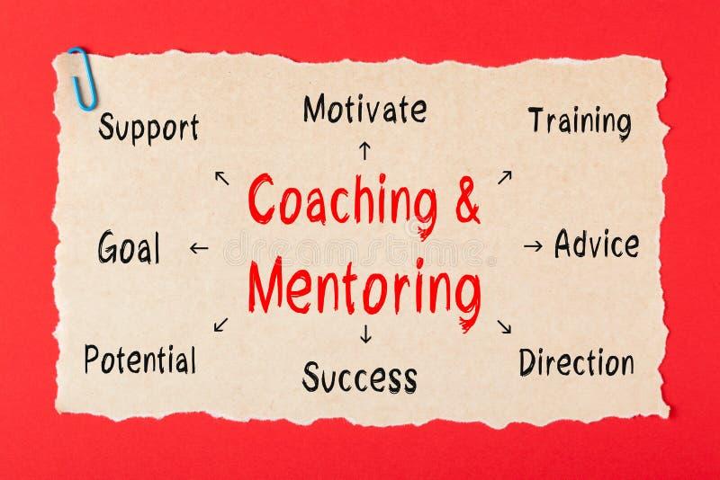 Coachning- och Mentoringdiagram royaltyfri bild