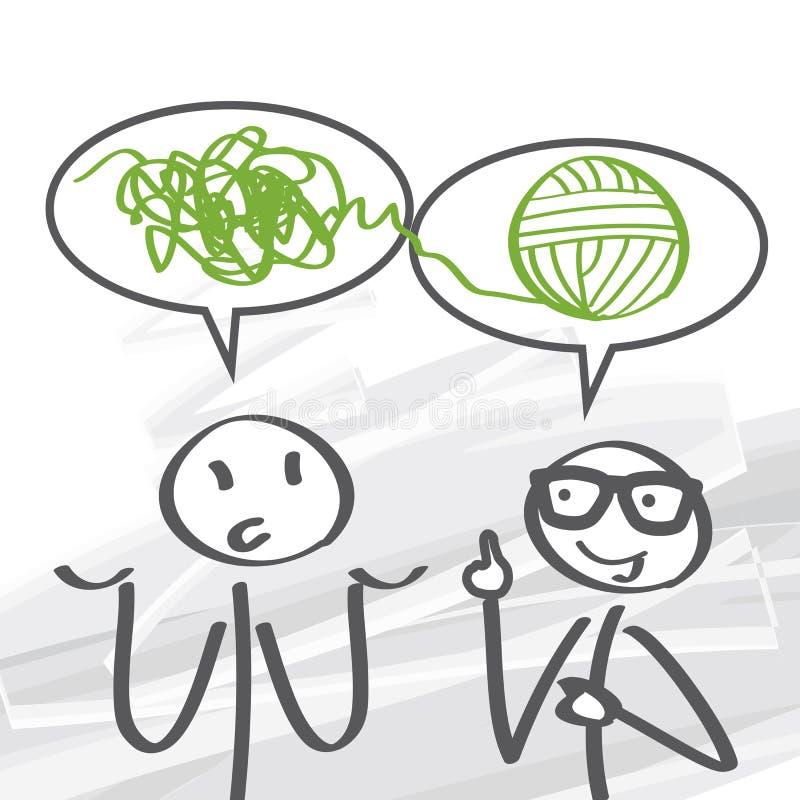 Coachning problemlösning vektor illustrationer