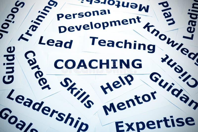 Coachningbegreppskaraktärsteckning royaltyfri fotografi