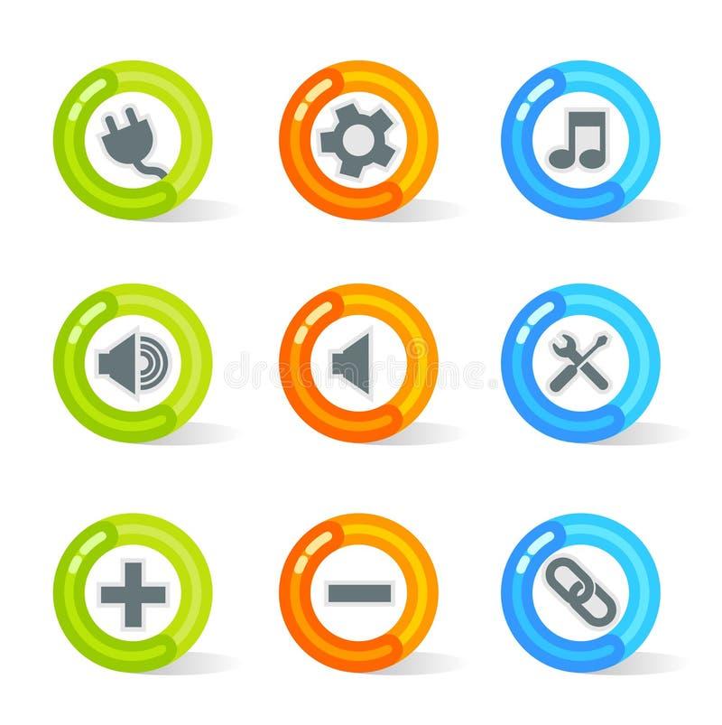 Coagule ícones do Web (o vetor) ilustração do vetor
