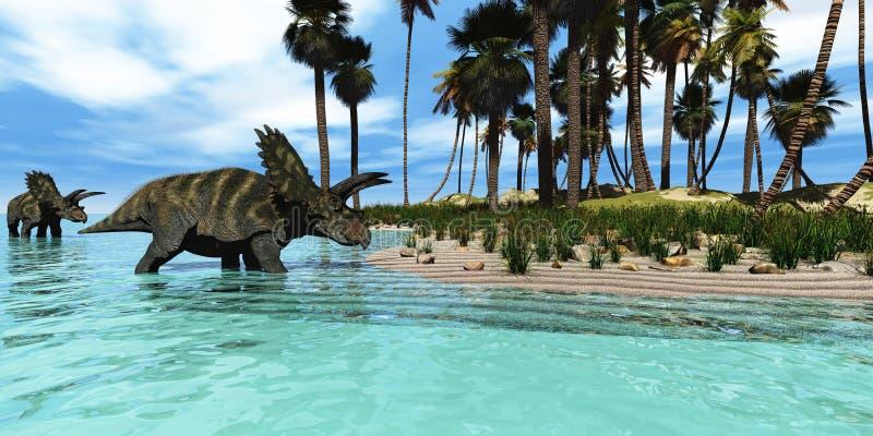 Coahuilaceratops illustration stock