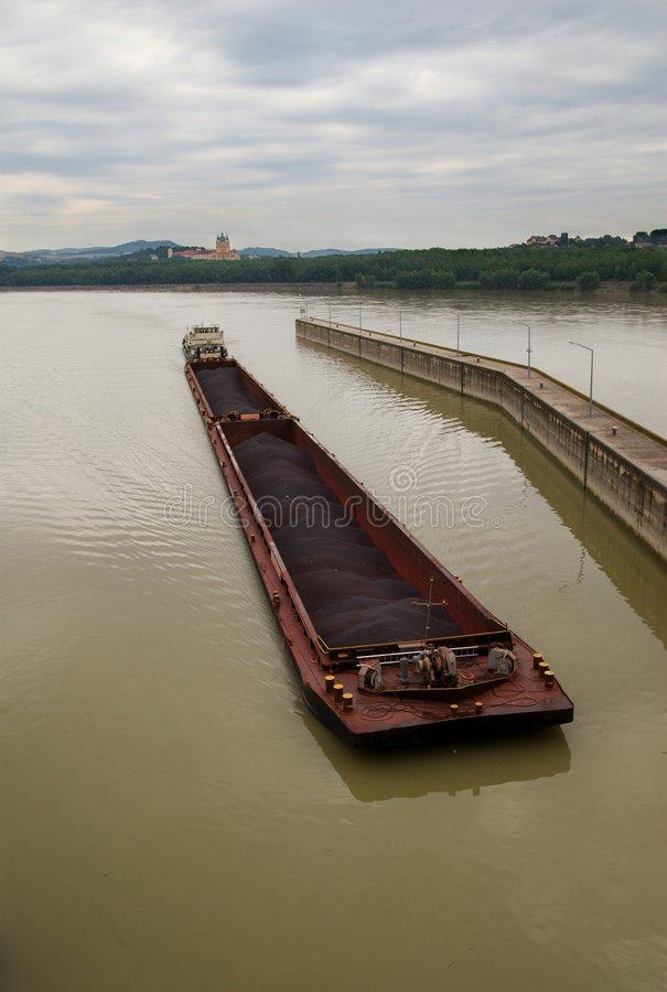 Free Coal Barge At Melk Royalty Free Stock Image - 8364946