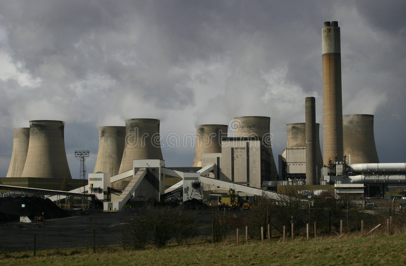 Coal burning Power Station royalty free stock images