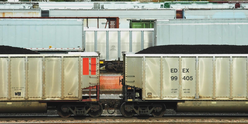 Coal Cars stock photo