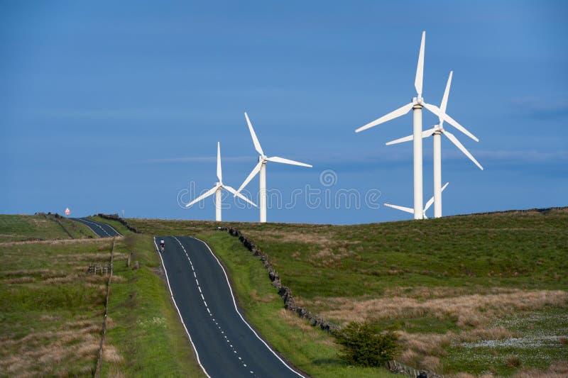 Coal clough wind farm burnley. Lancashire, england, uk stock photos