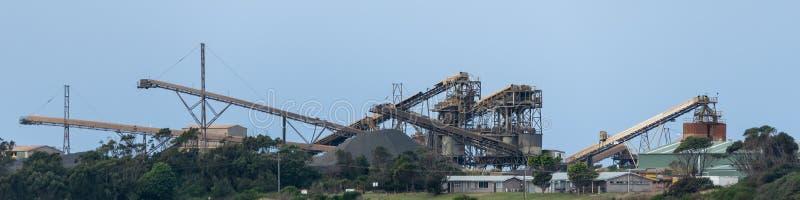 Coal conveyor sorter factory australia royalty free stock photos