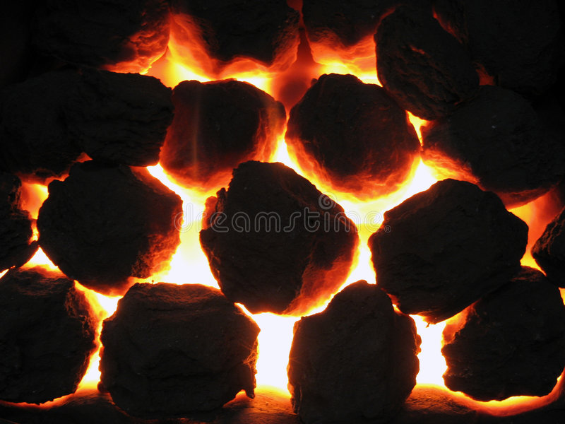 Coal fire. Close up of coal fire effect royalty free illustration