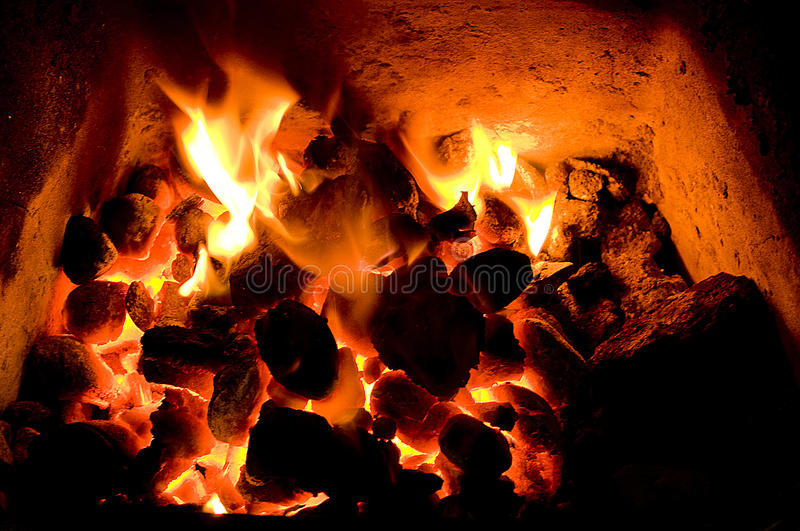 Coal fire royalty free stock images