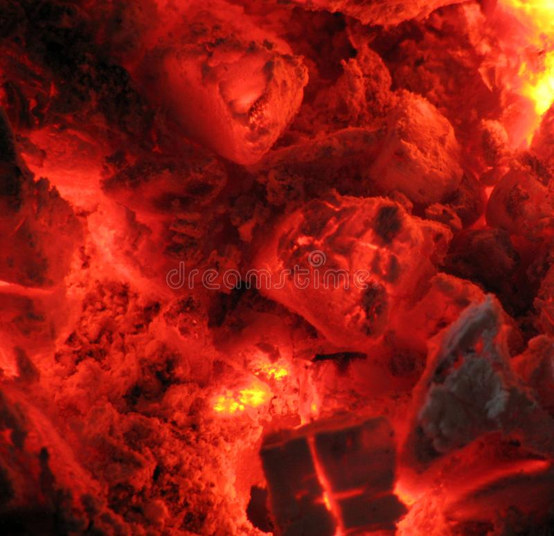 Coal fire royalty free stock photo