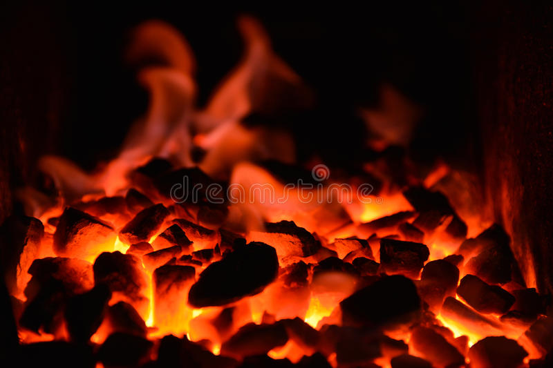 Coal Fire. A photo with coal fire royalty free stock photo