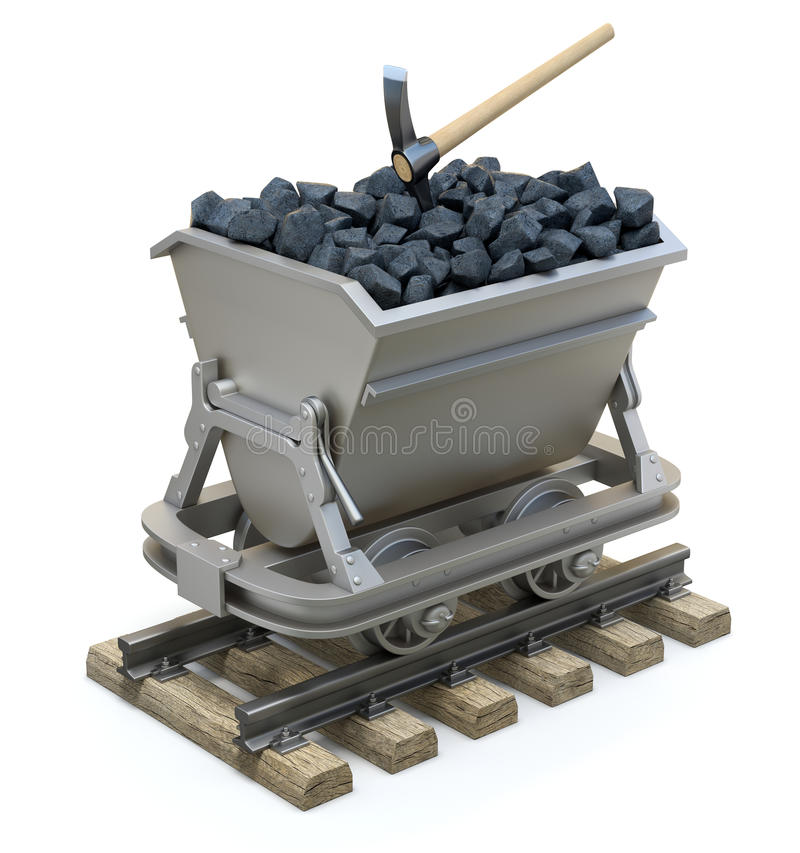 Free Coal In The Mining Cart Stock Images - 62262564