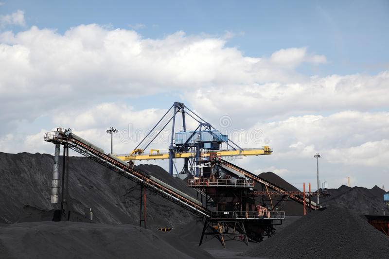 Coal industry facilities royalty free stock images