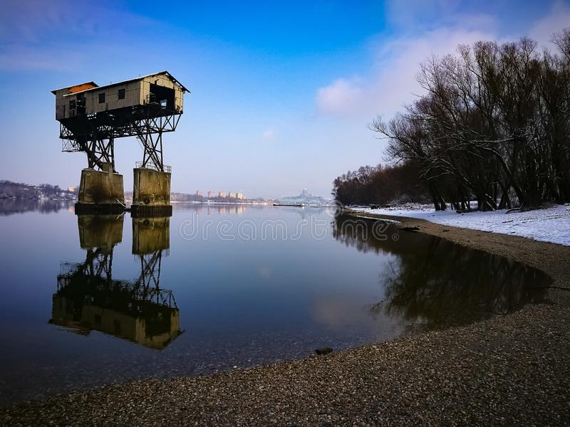 Coal loader tower stock images