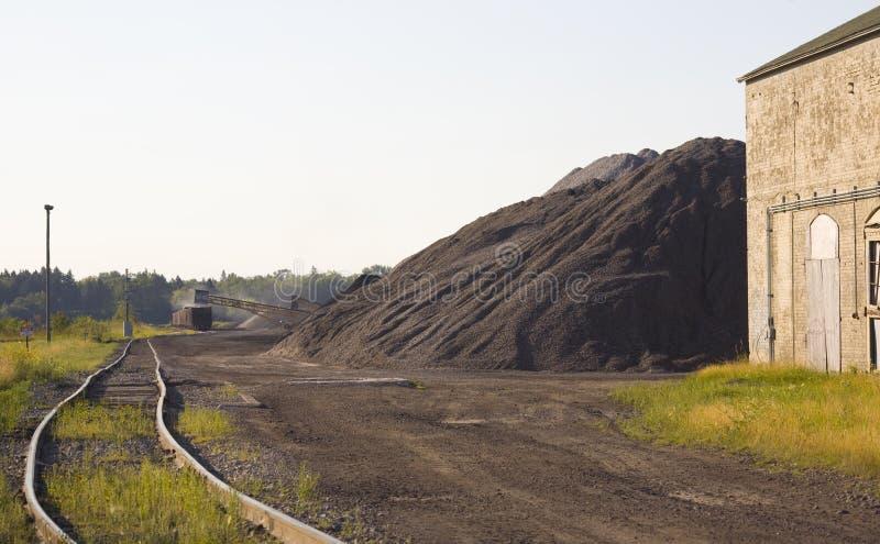 Coal Loading in Rail Yard stock image