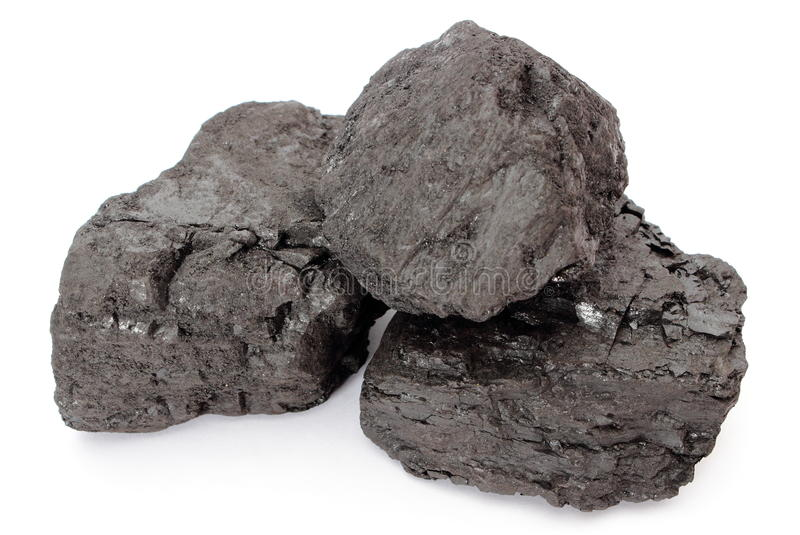 Download Coal Lumps On White Background Stock Photo - Image: 31406062
