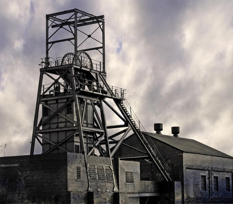 Coal Mine. Image of a disused coal mine pithead winding gear royalty free stock images