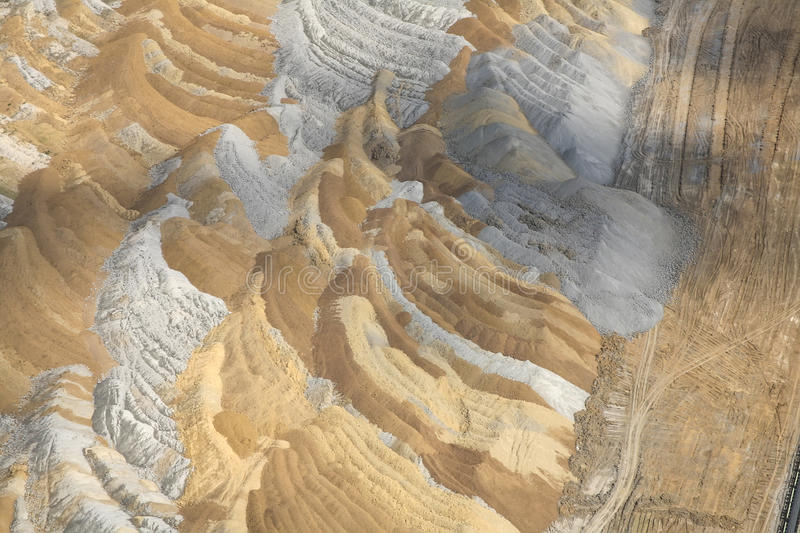 Download Coal mine, aerial view stock image. Image of digging - 51381627