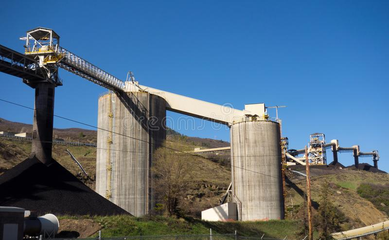 A coal mine in colorado. A closed mining factory as seen from the road stock photo