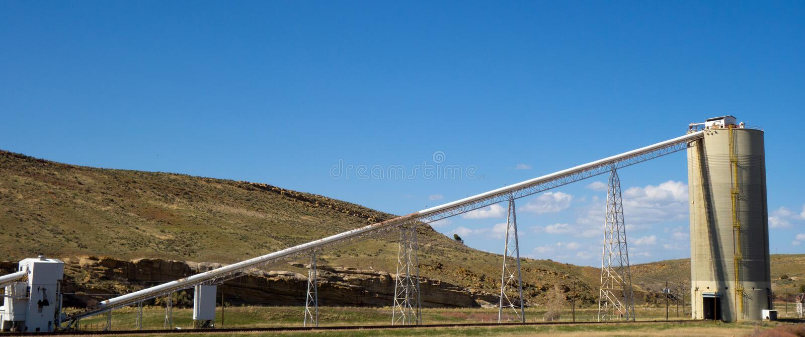 A coal mine in colorado. A closed mining factory as seen from the road royalty free stock images