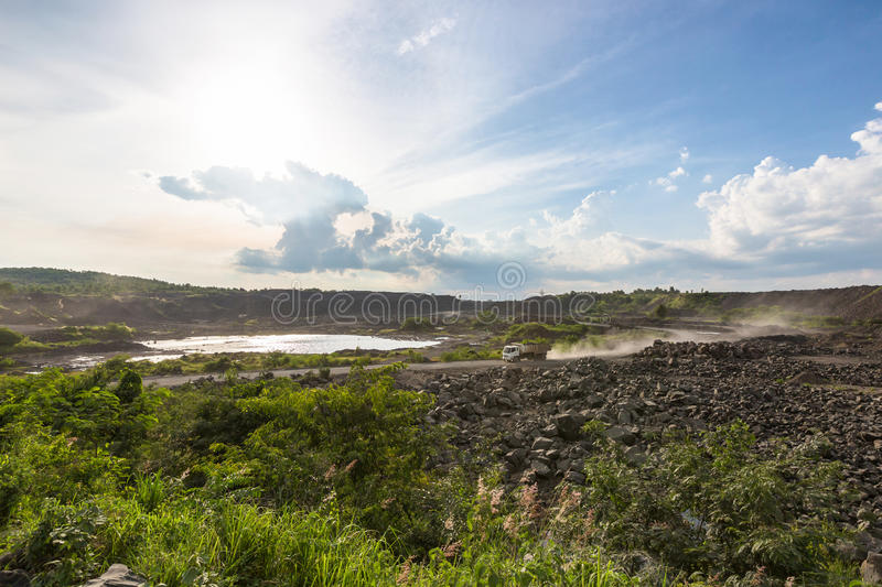 Coal mine electric industry in Thailand. stock photography