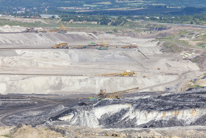 Coal mine, Most, Czech Republic. Industrial landscape royalty free stock image