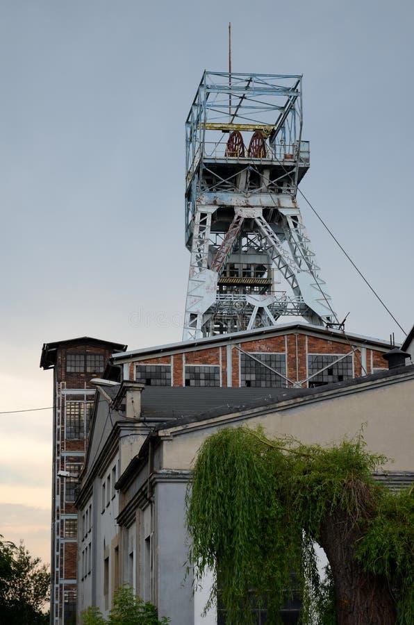 Coal mine shaf. Old coal mine shaft in Knurow, Poland stock image