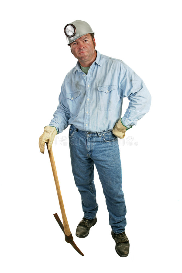 Coal Miner - Leaning on Pickax royalty free stock images