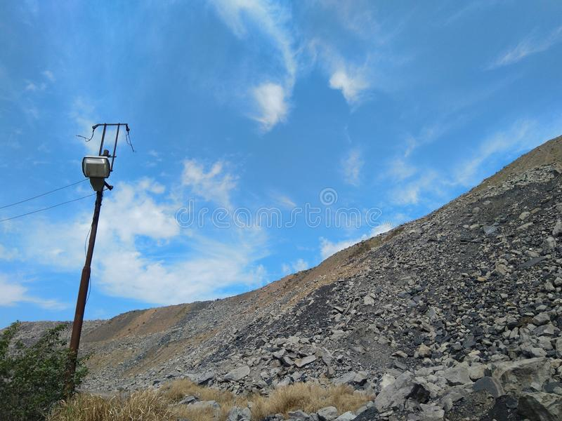 Coal Mines area royalty free stock photos