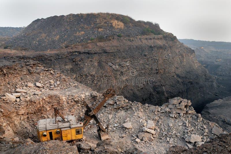 Coal mines in India stock photo