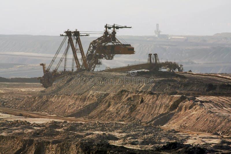 Coal mining stock image